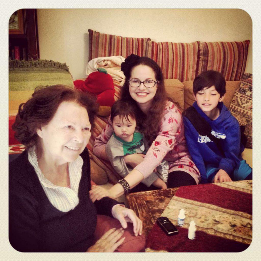 עם סבתא חנה האהובה
