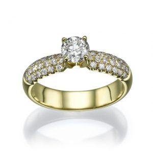טבעת יהלום צד SR-194