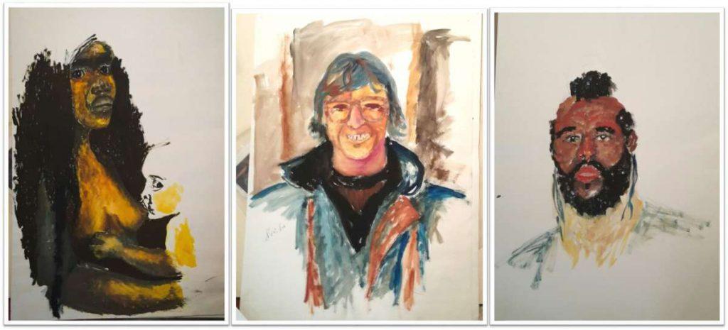 מחשבות על ראש ועל זנב - ציורים משנים 1987-1989.  מיכל שרגיל בן סירה