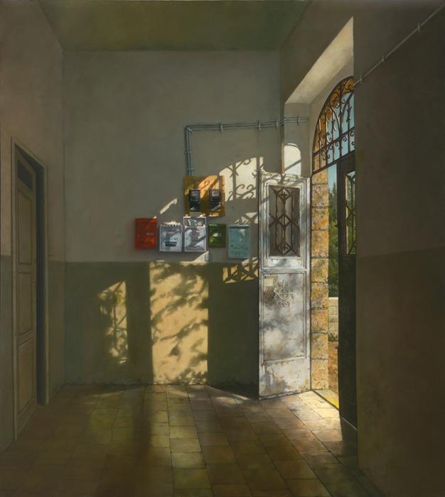 מארק ינאי, כניסה בדרך בית לחם, 2008-2013 שמן על בד, 146x130 ס״מ