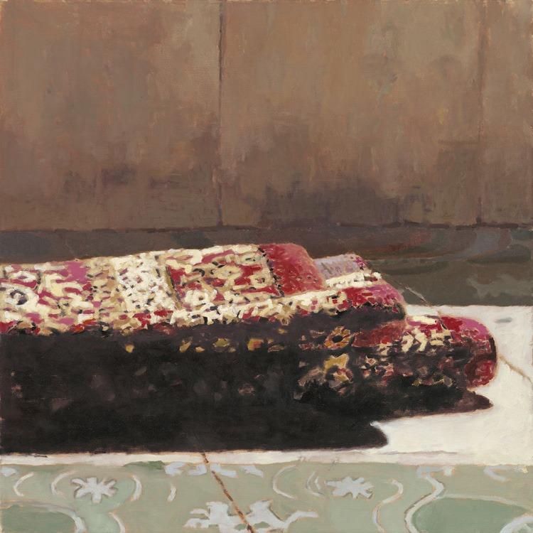 פטמה שנאן, ללא כותרת, 2013 שמן על בד, 80x80 ס״מ