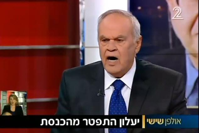 רוני דניאל זועם ומיואש (צילום מסך חדשות ערוץ 2)