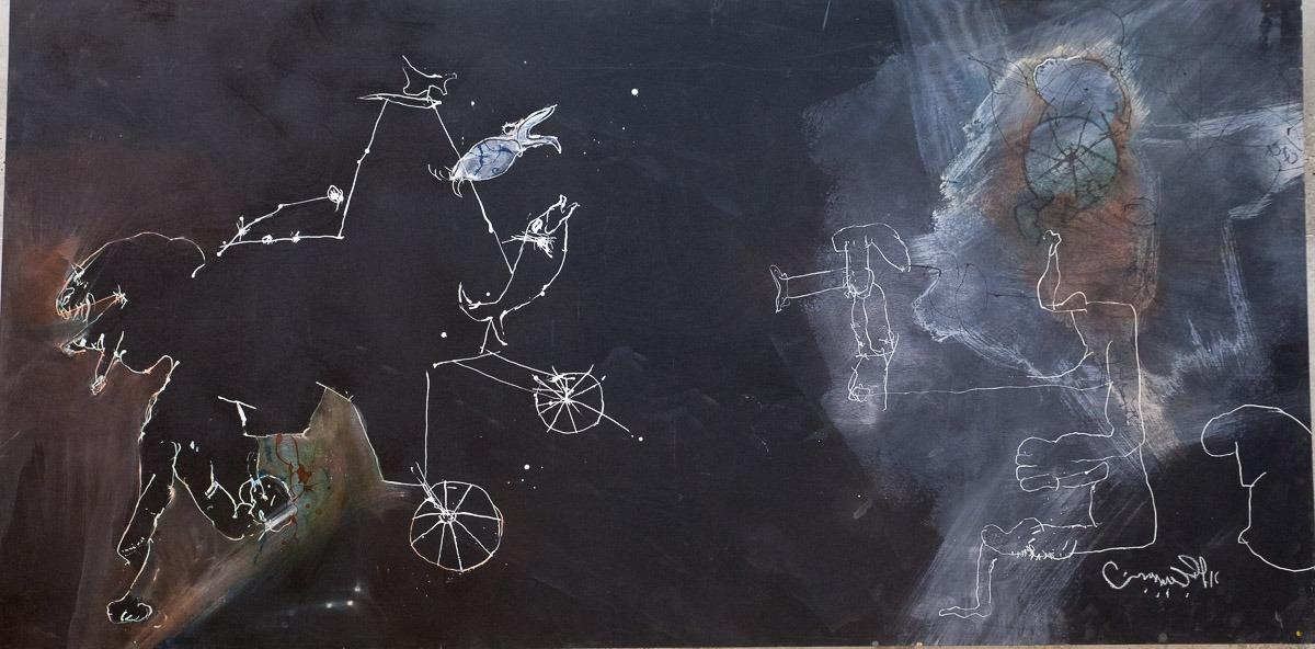 אורי ליפשיץ, ציורים אחרונים, 2011. צילום: ענבל כהן חמו