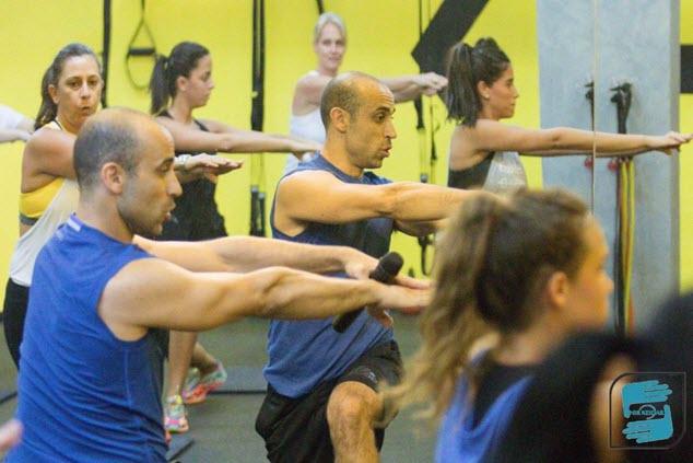 אימון קבוצתי במועדון Next Fitness (צילום: ניר קידר)