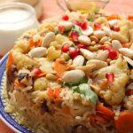 אורז שקדים וירקות