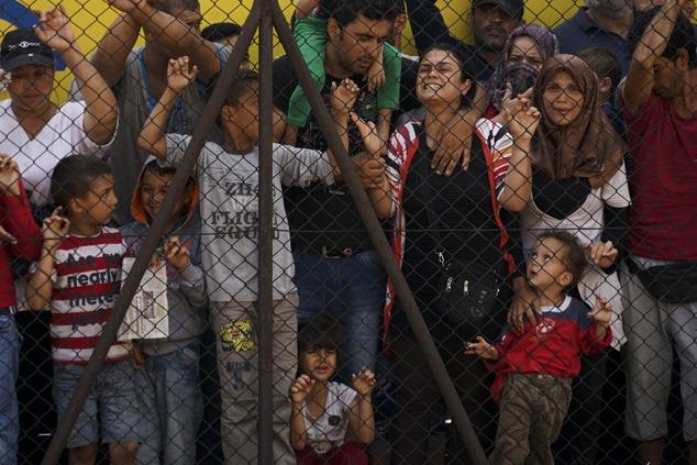 פליטים סורים בבודפשט (צילום: Mstyslav Chernov)