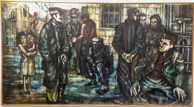 גרשון קניספל, ציורים משנות ה-50.