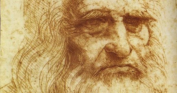 ליאונרדו דה וינצ'י ברישום דיוקן עצמי