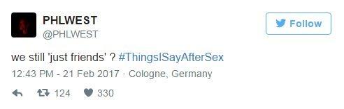 ציוץ לאחר סקס