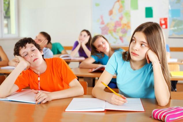 ילדים משועממים בבית הספר (צילום: שאטרסטוק)