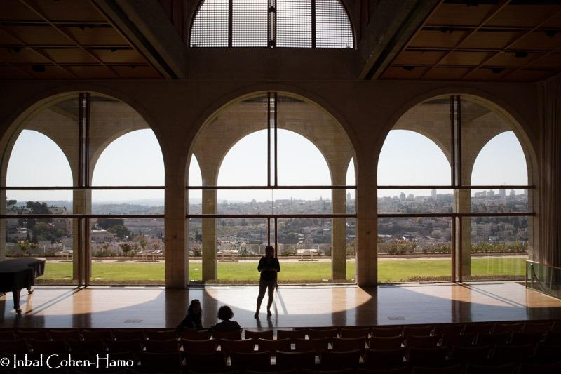 מבט אל הנוף מאולם הקונצרטים של המרכז המורמוני. צילום: ענבל כהן חמו