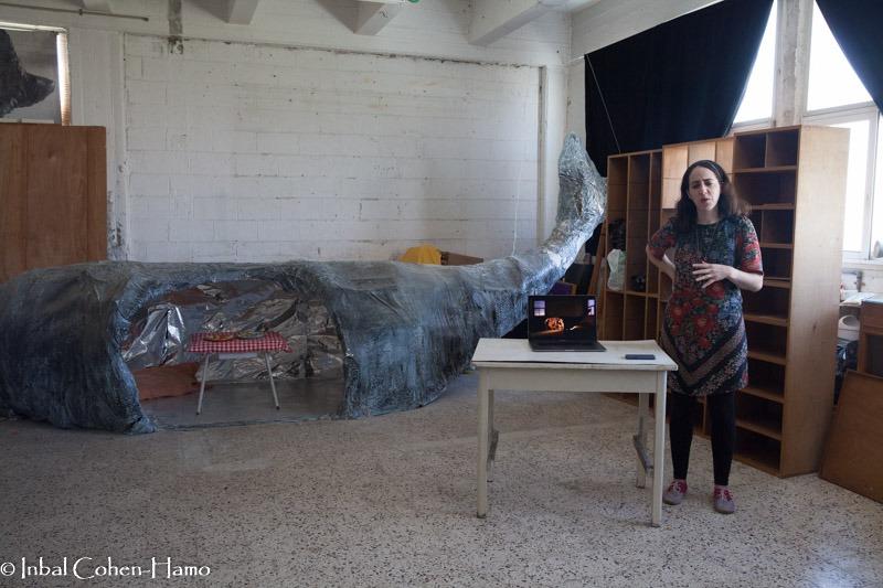 הדסה גולדוויכט והלוויתן. צילום: ענבל כהן חמו