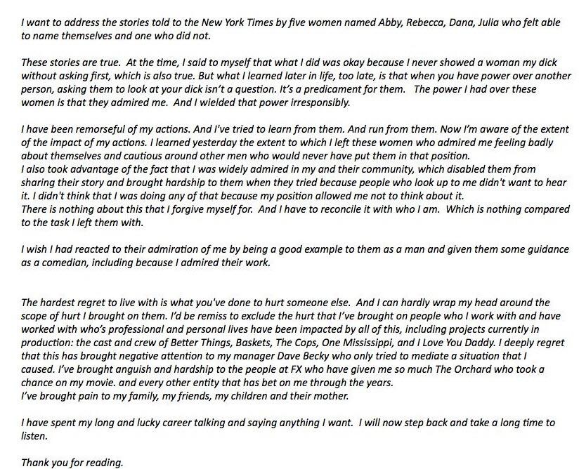 ההתנצלות של לואי סי קיי
