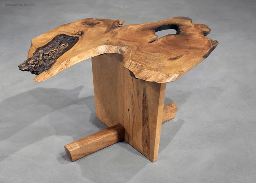 coffee table by George Nakashima, courtesy Moderne Gallery