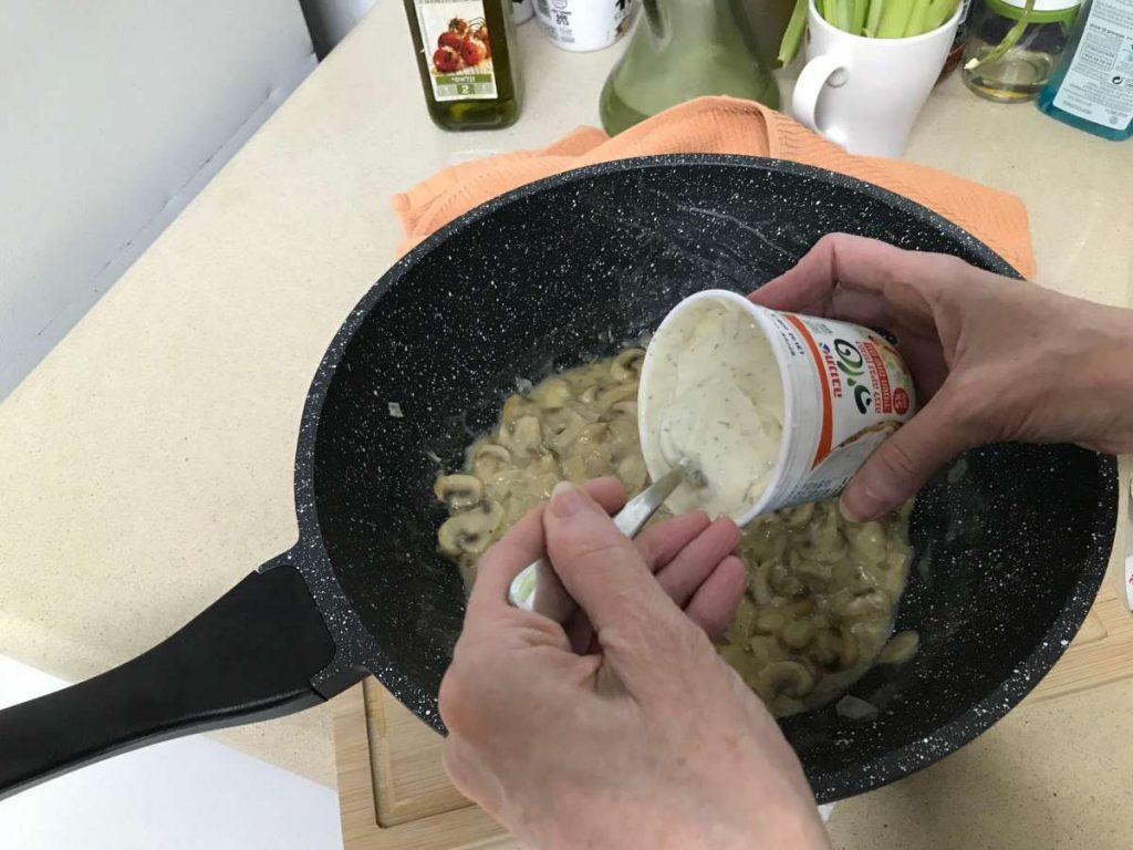 קיש פטריות טבעוני הכנת מלית