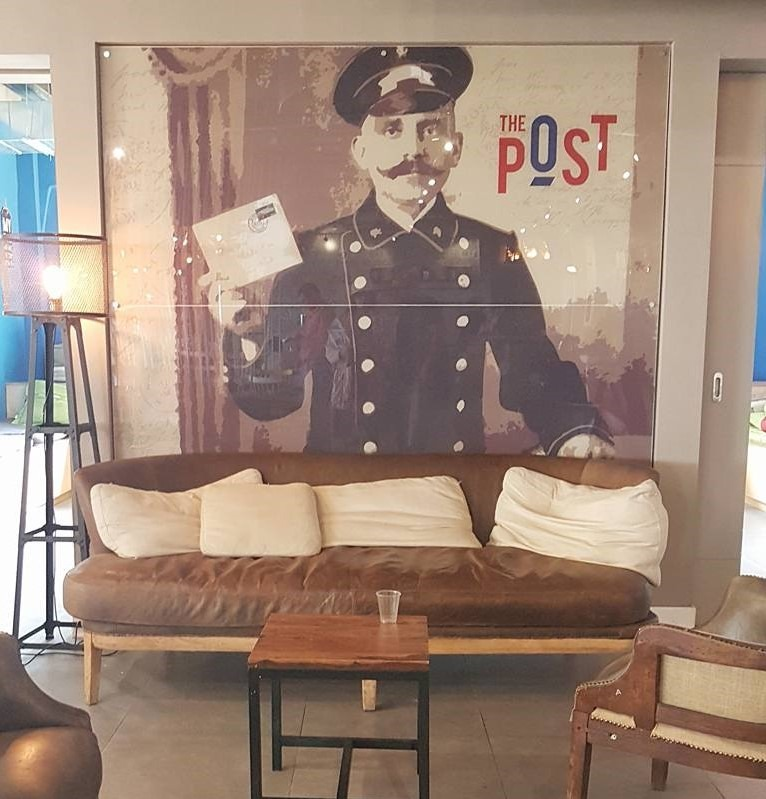 לובי מלון THE POST , מעצב מיכאל אזולאי - כילדה עבדתי במבנה הזה בחופש הגדול