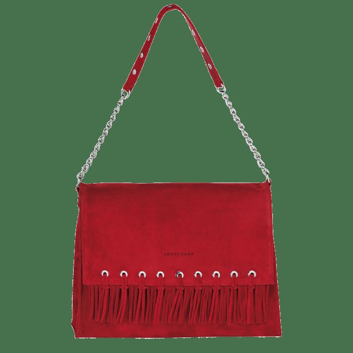 לונגשאמפ, תיק עור אדום פרנזים, 2790 שח צילום יחצ חול
