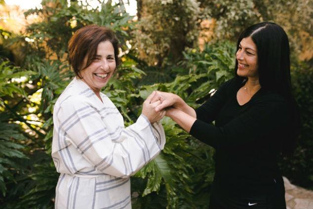 שילוב מנצח בין תזונה ליוגה עם אביטל סבג ורותי אמיר. צילום: ליאה גלדמן