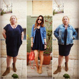 שמלה: Noa Rubin, ג'קט ג'ינס: עונוצ, מגפונים: ניין וסט, תיק: מתנה מאנגליה