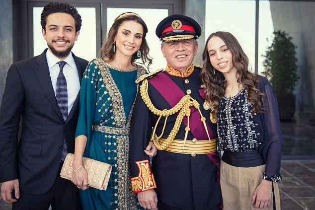 ראנייה ומלך ירדן צילום:  Royal Hashemite Court vis Getty Images