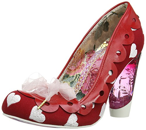 Irregular-Choice-Hearts-On-The-Line-Women-Closed-Toe-Pumps-Red-Red-75-UK-41-EU-0