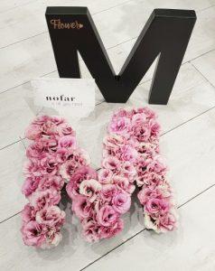 אותיות פרחים מסוגננות