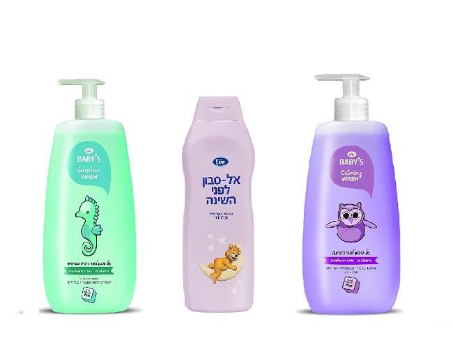 """אלסבון מועשר בקמומיל, אל סבון לפני השינה ואל סבון לעור רגיש במיוחד של לייף ( צילום: יח""""ץ סופר-פארם)"""