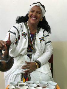 טקס הכנת קפה בקהילה האתיופית