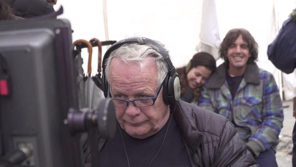 ינקול גולדווסר על סט סרטו שרוכים, צילום מתוך דף הפייסבוק של ינקול