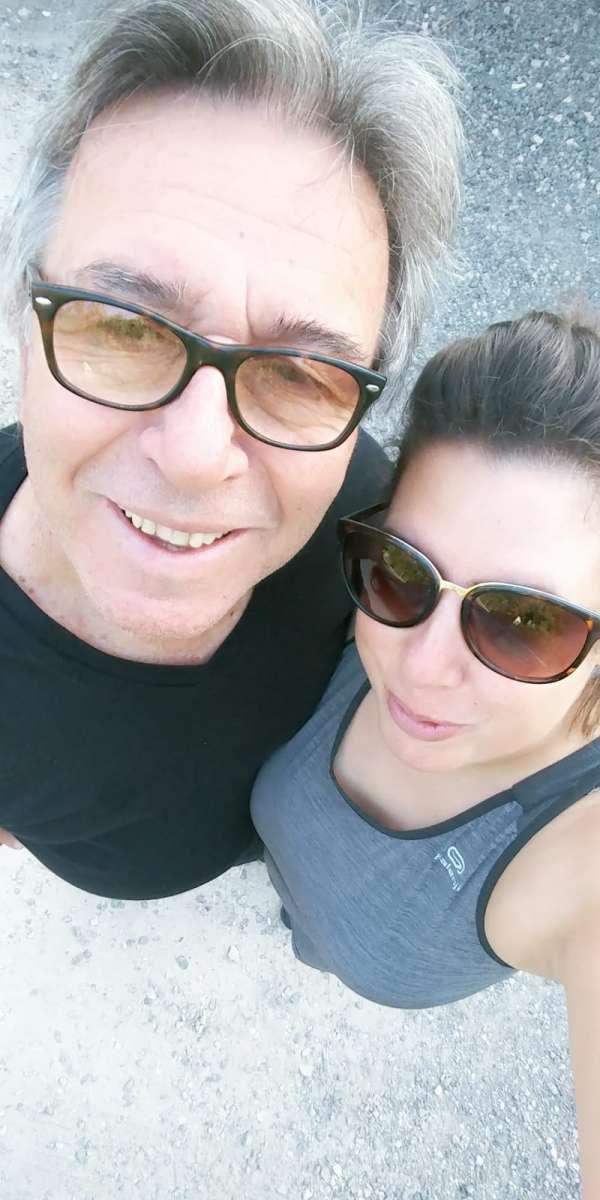 אני ואבא באימון משותף :)