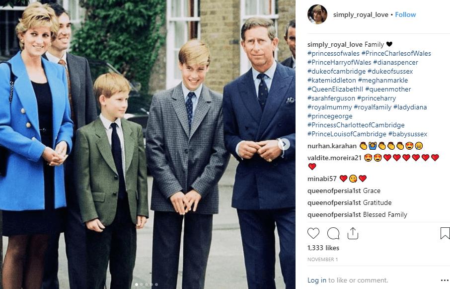 הנסיך צ'ארלס ובניו צילום אינסטה