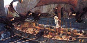 John William Waterhouse,  Ulisses e as Sirenas , 1891 -