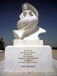 Statue of Thessalonike on Thasos in Greec