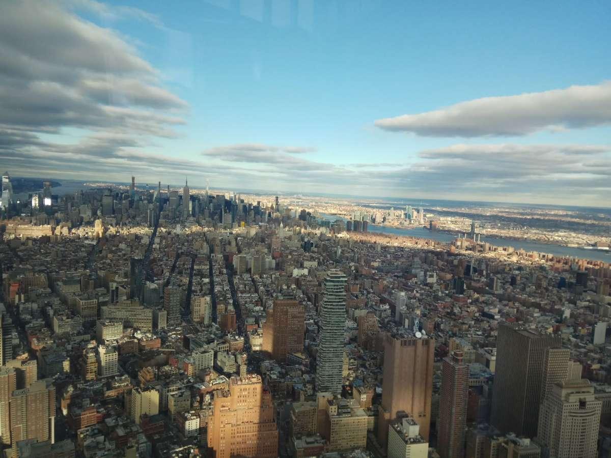 מבט צפונה מהתצפית הכי יפה על העיר