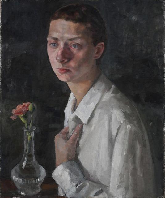 רוני טהרלב, דיוקן עם פרח ציפורן, צילום: יורם בוזגלו