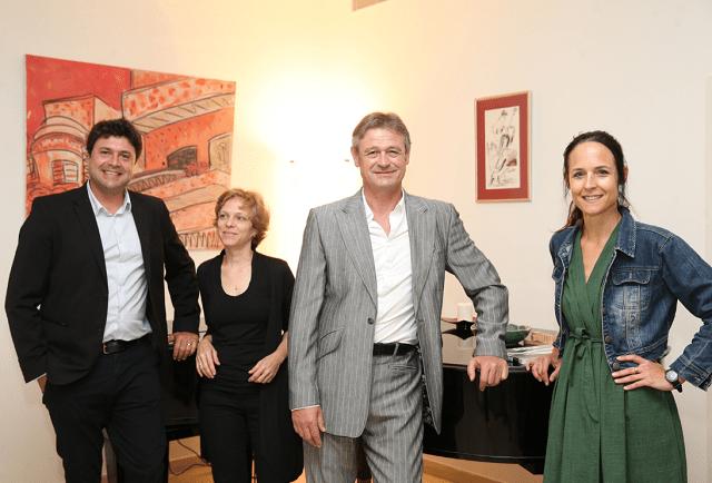 מימין לשמאל - יעל וויילר נספחת התרבות, זאן דניאל רוך שגריר שווייץ, ליב הלפרין גרשטיין יועצת בכירה, דודו ביגלאייזן מנהל חדשנות