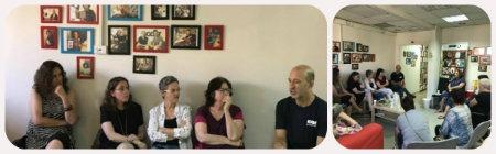 """מוטי ליפמן-מנכ""""ל אייקאסט במפגש עם בלוגריות מועדון הקוראות של סלונה-צילום לי פלר"""