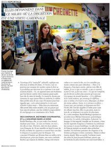 עמוד מתוך כתבה עלי במגזין Grazia magazine france התמונה צולמה כשבועיים לאחר לידת בני השלישי בסטודיו של הצלם קיט גלסמן
