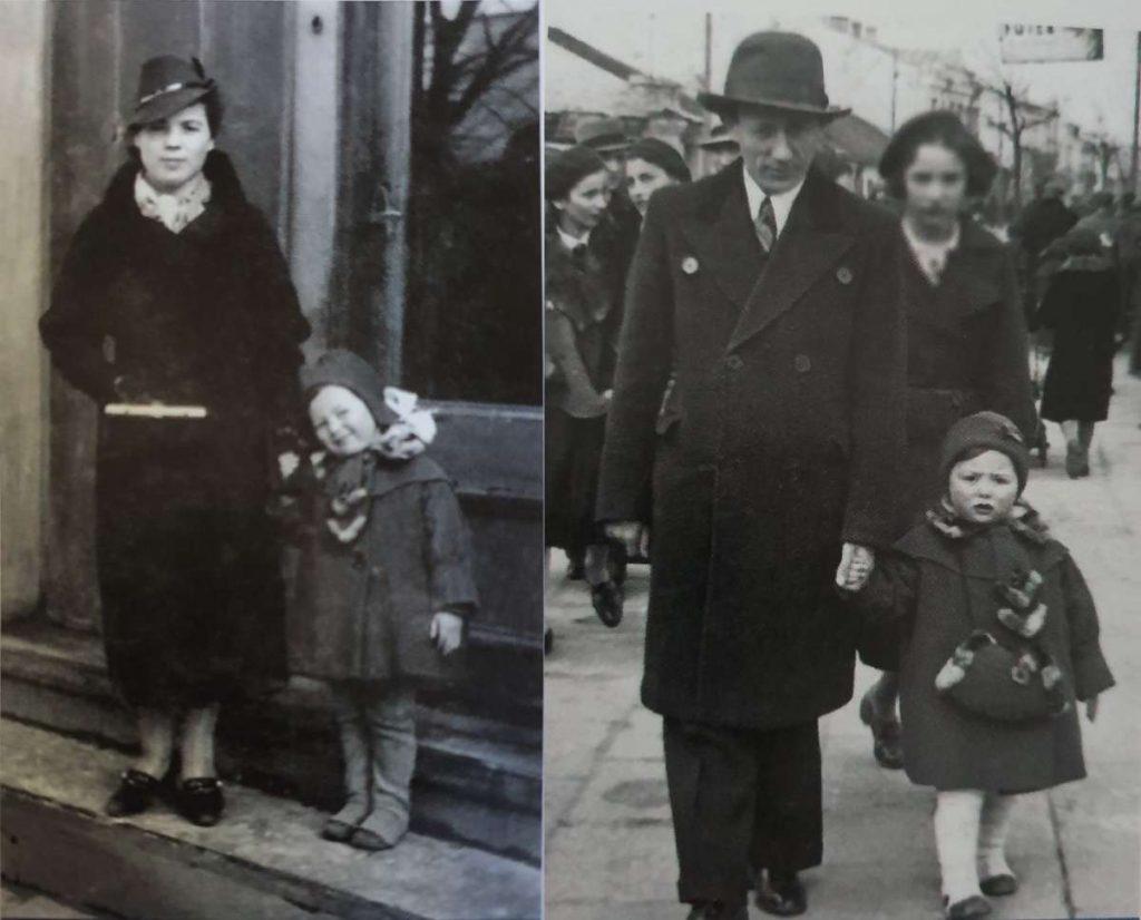 זה סופם של חכמי חלם - המתוקה הקטנה הזו זו אימי בלהה, עם אביה-סבא שמואל, ואימה-סבתא חנה, בחורף 1937, חלם