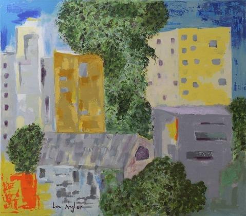 ציור של לאה נגלר צילום טל הרשקוביץ