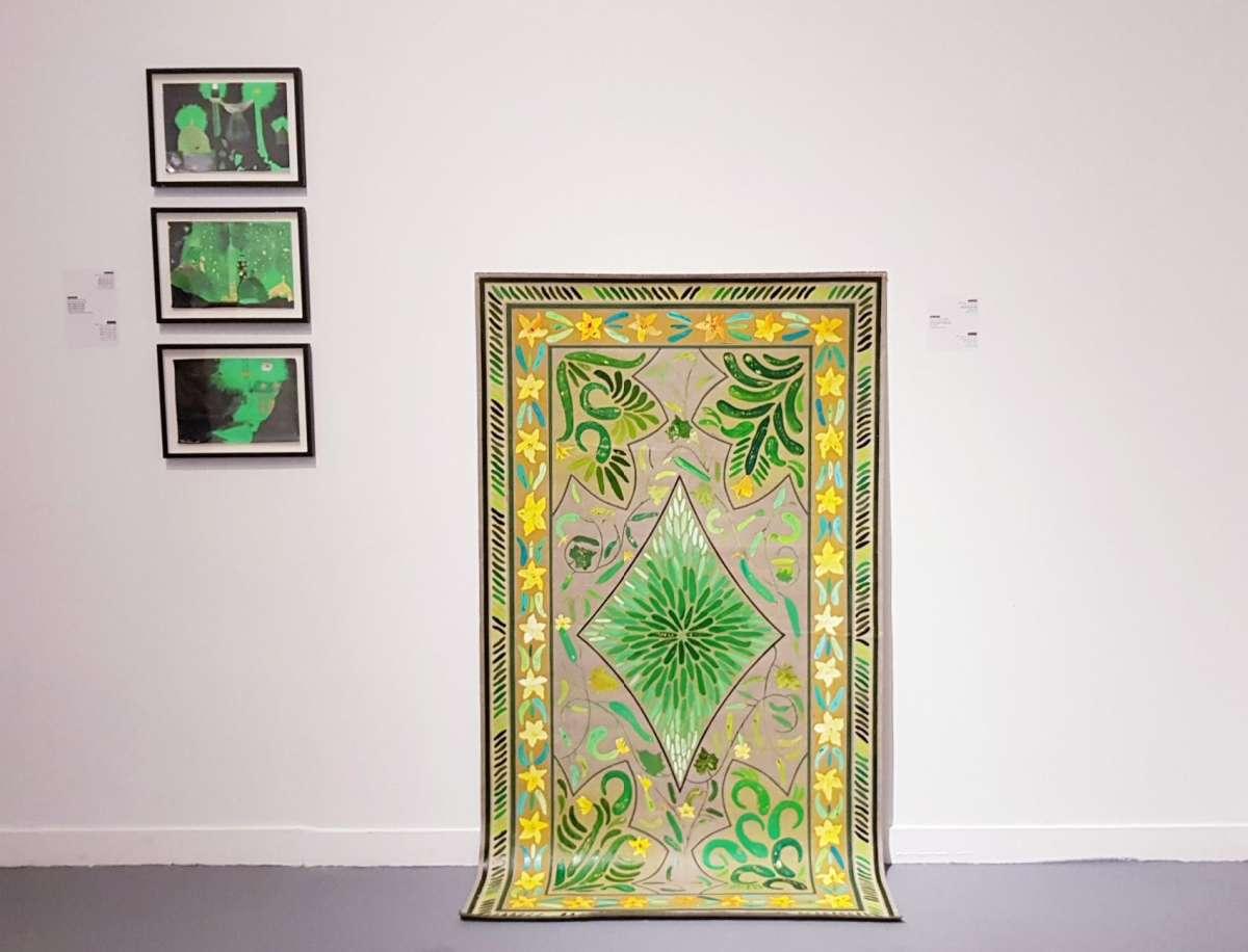 שטיח המלפפונים, עבודה של אלהם רוקני צילום קרן פרגו