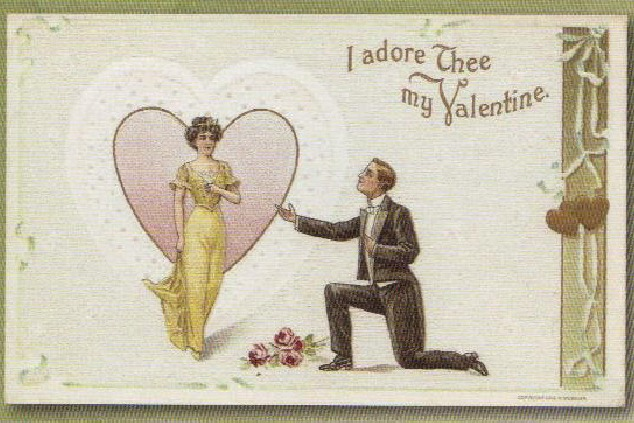 """גלויית דואר מתחילת המאה ה 20 בארה""""ב. מתוך אוסף הספרייה האוניברסיטאית, ווסט וירג'ינינה."""