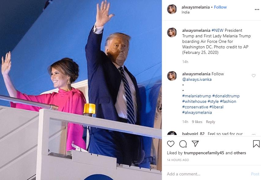 מלניה טראמפ צילום אינסטגרם