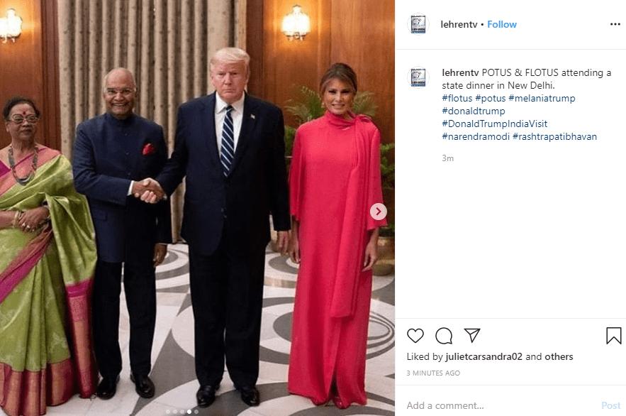 מלניה טראמפ ודונלד טראמפ צילום מסך