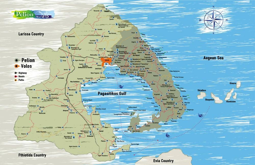Pelion & Me Map