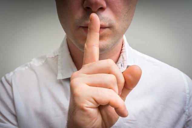 שתיקה היא כלי אפקטיבי להשתקה (צילום: שאטרסטוק / andriano.cz)