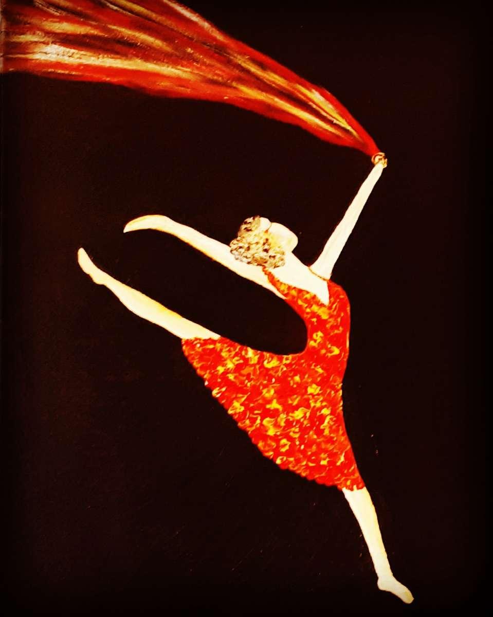 רקדנית באדום