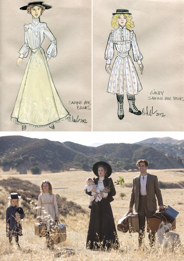 למעלה: איורי מחלקת התלבושות; למטה, משפחת גוף מגיעה למעונה החדש