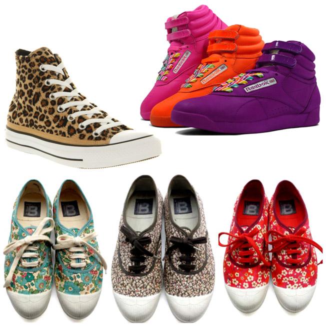 | נעלי ספורט בטעם של פעם | מימין למעלה: ריבוק של שנות ה-80, בצבעים חדשים | למטה: בנסימון - קסם הרטרו | למעלה משמאל: אול-סטאר - נעלי הכדורסל של שנות ה-50 בקאם-בק המי-יודע כמה שלהן