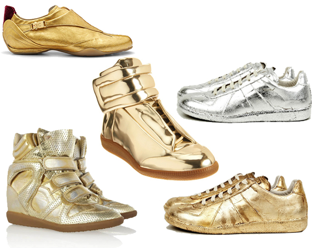Gold Sneakers - Brands